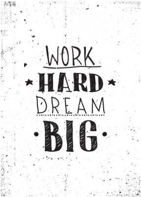 Наклейка Quote. Work hard dream big