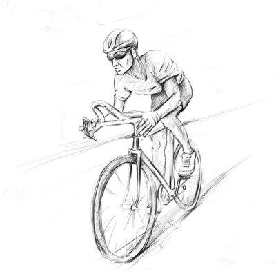 Наклейка гоночный велосипедист