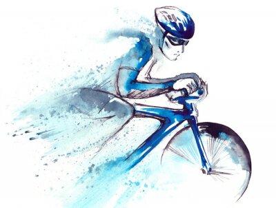Наклейка велогонщик