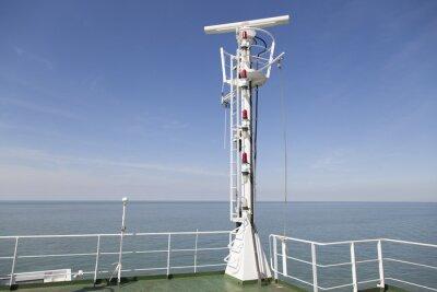 Наклейка Radarmast Auf Dem Peildeck Эйнес Frachtschiffes