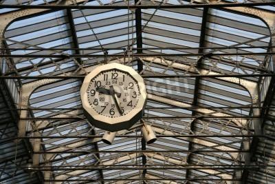 Наклейка Станция часы Железная дорога в Париже.