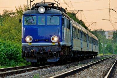 Наклейка железнодорожный транспорт