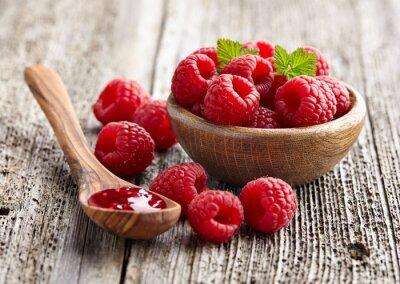 Наклейка Малиновое варенье с ягодой