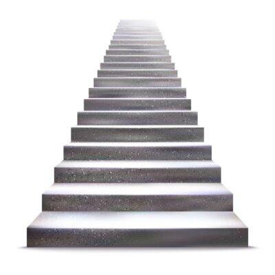 Наклейка Реалистичная камень лестницы векторные иллюстрации