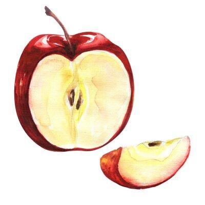 Наклейка Красное яблоко, изолированных на белом фоне вырез