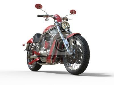 Наклейка Красный Roadster велосипед - вид спереди