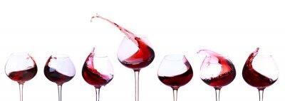 Наклейка Красное вино на белом