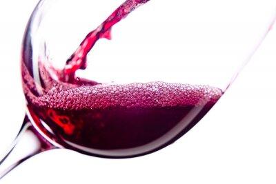 Наклейка Красное вино на белом фоне