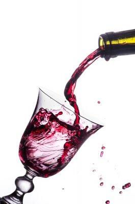 Наклейка красное вино всплеск