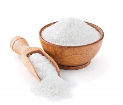 Наклейка Поваренная соль регулярно в деревянной миске
