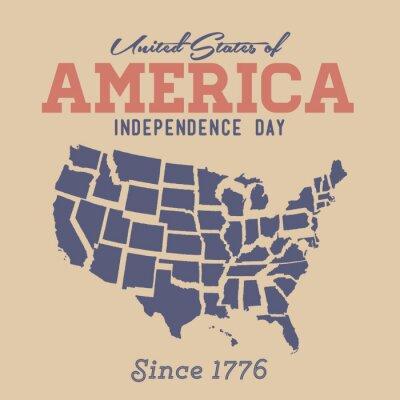 Наклейка Ретро День Независимости Вход