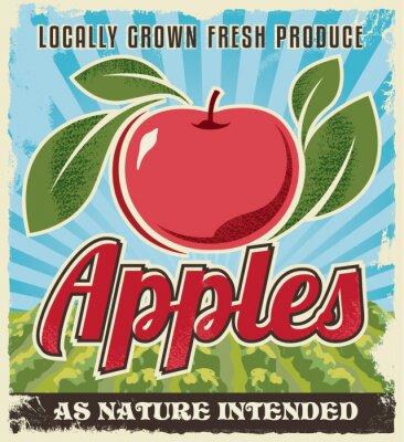 Наклейка ретро старинные этикетки яблоко