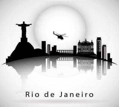 Наклейка Рио-де-Жанейро Skyline