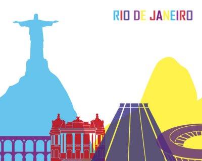 Наклейка Rio de Janeiro skyline pop