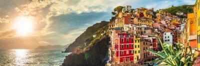 Наклейка Риомаджоре панорама, Cinque Terre, Италия