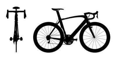Наклейка Шоссейные велосипеды силуэт 2in1