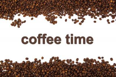 Наклейка Жареные кофейные зерна с заголовком