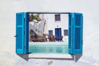 Наклейка Romantic holidays on Santorini island, Greece
