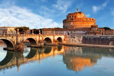 Наклейка Рим - Кастель святой Анджело, Италия