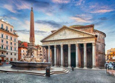 Наклейка нет Рим - Пантеон, никто