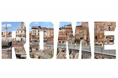 Наклейка Рим знак