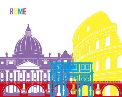 Наклейка Рим горизонт поп