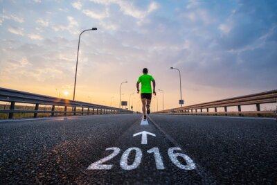 Наклейка Запуск в новом 2016 году
