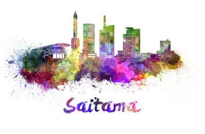 Наклейка Сайтама горизонт в акварели