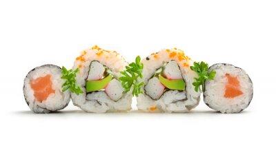 Наклейка лосося Маки суши и Калифорнийские роллы