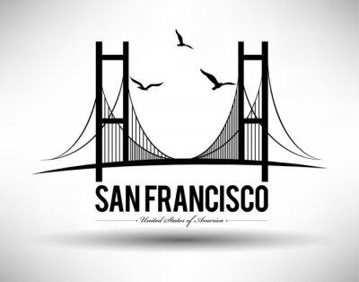 Наклейка Сан - Франциско Мост