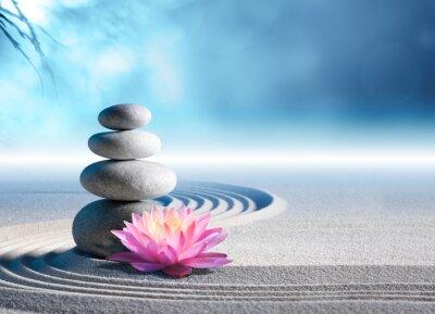 Наклейка sand, lily and spa stones in zen garden