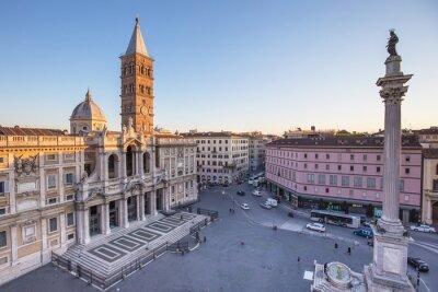 Наклейка Санта-Мария-Маджоре Piazza в Риме, Италия.
