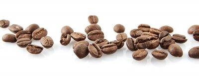Наклейка Переменная кофейные зерна в соответствии на белом