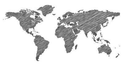 Наклейка Писанина Карта Мира