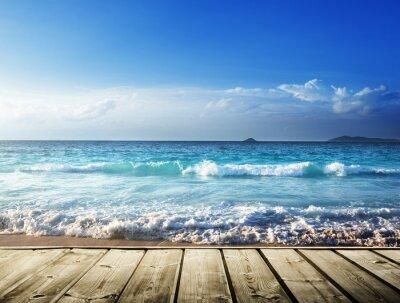 Наклейка sea and wooden platform