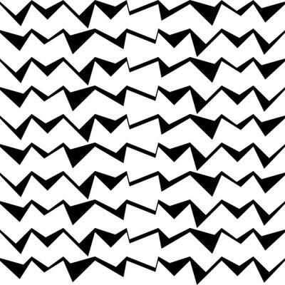 Наклейка Бесшовные черный и белый фон декоративный вектор с абстрактным геометрическим рисунком