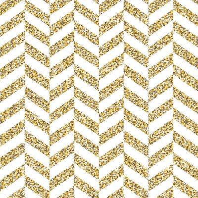 Наклейка Бесшовные шеврона. Блестящая золотая поверхность