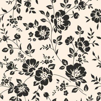 Наклейка Бесшовные картины с цветами.