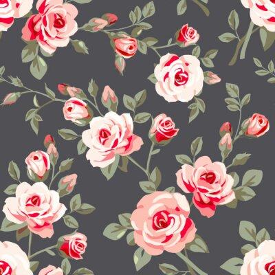 Наклейка Бесшовные с розами