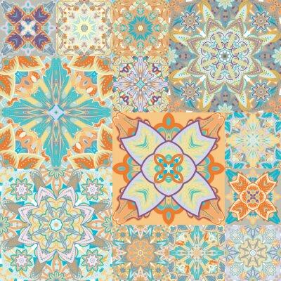 Наклейка Бесшовные вектор. Пэчворк. в арабском стиле. Абстрактные иллюстрации.