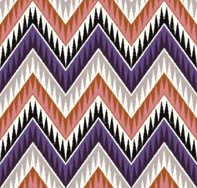 Наклейка зигзаг бесшовные текстурированные текстильной шаблон