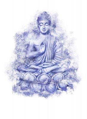 Наклейка Seated Buddha in a Lotus Pose