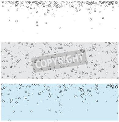 Наклейка Набор фонов с пузырьками. Векторные иллюстрации воды.