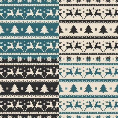 Наклейка Набор Рождество и Новый Год бесшовные модели