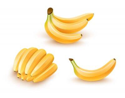 Наклейка Набор изолированных фруктов банан. Eps10 иллюстрации.