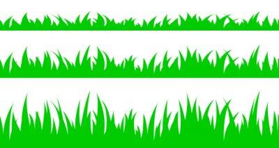 Наклейка Набор бесшовных траве.