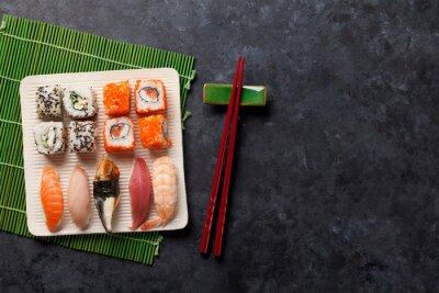 Наклейка Набор суши и маки ролл