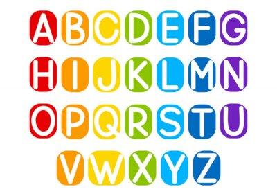 Наклейка Набор векторных букв для дизайна