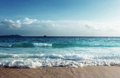 Наклейка Seychelles пляж в закат время
