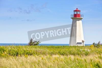 Наклейка Корабль Крушение Lighthouse Point в сельских Принца Эдуарда Исландии, Канады.